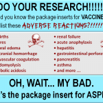 do your research package insert for aspirin