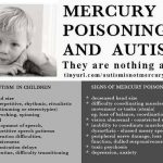 mercury poisoning and autism are nothing alike